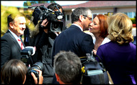Kissing Senator Conroy